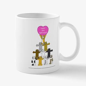 Happy 18th Birthday cartoon cats. Mugs