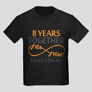 8th anniversary Kids Dark T-Shirt