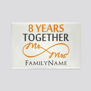 8th anniversary Rectangle Magnet