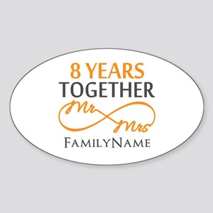 8th anniversary Sticker (Oval)