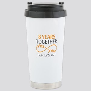 8th anniversary Stainless Steel Travel Mug