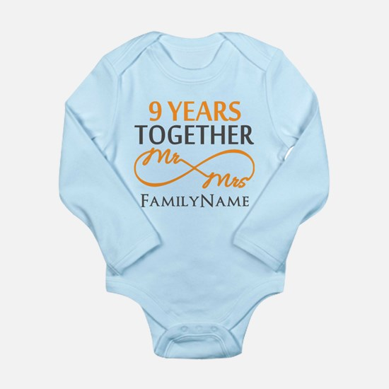 9th anniversary Long Sleeve Infant Bodysuit