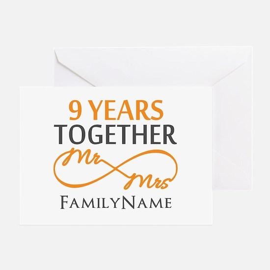 9th anniversary Greeting Card