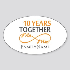10th anniversary Sticker (Oval)