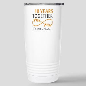 10th anniversary Stainless Steel Travel Mug
