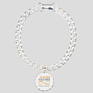 10th anniversary Charm Bracelet, One Charm