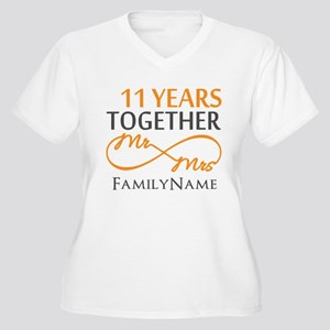 11th anniversary Women's Plus Size V-Neck T-Shirt