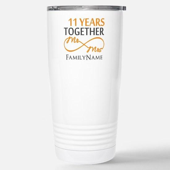 11th anniversary Stainless Steel Travel Mug