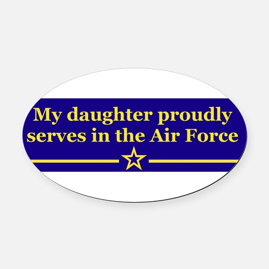 Unique Air force wife zebra Oval Car Magnet
