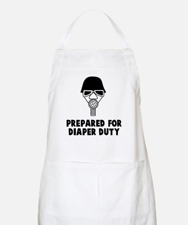 Prepared for diaper Apron