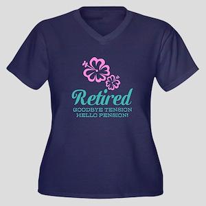 Cute Retirement Plus Size T-Shirt For Women