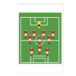 Soccer Team, Football Postcards (package Of 8)