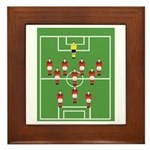 Soccer Team, Football Players Framed Tile