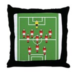 soccer team, football players Throw Pillow