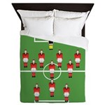 soccer team, football players Queen Duvet