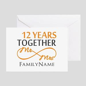 12th anniversary Greeting Card