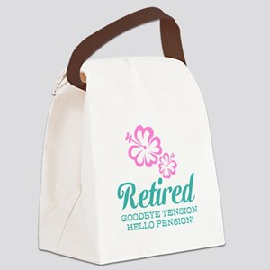 Funny retirement Canvas Lunch Bag