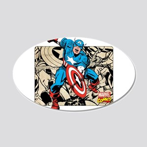 Captain America Retro 20x12 Oval Wall Decal