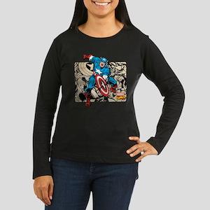 Captain America R Women's Long Sleeve Dark T-Shirt