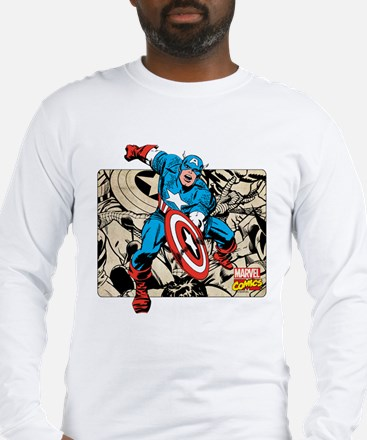 Captain America Retro Long Sleeve T-Shirt