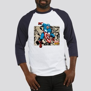 Captain America Retro Baseball Jersey