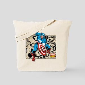 Captain America Retro Tote Bag