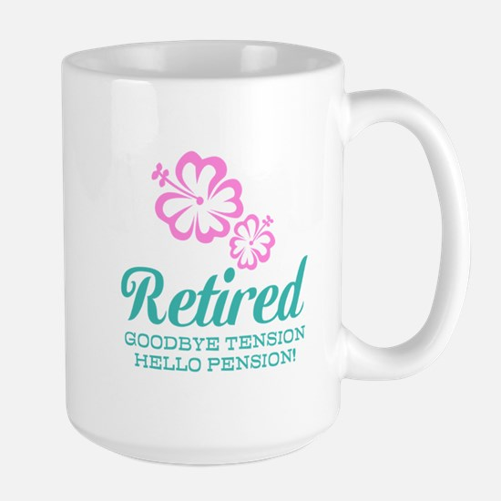 Funny Retired Mugs | Goodbye Tension Hello Pension