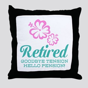 Funny retirement Throw Pillow