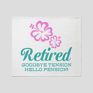Funny retirement Throw Blanket