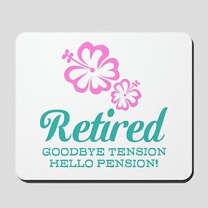 Funny retirement Mousepad