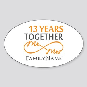 13th anniversary wedding Sticker (Oval)