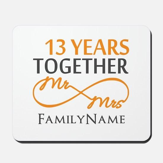 13th anniversary wedding Mousepad
