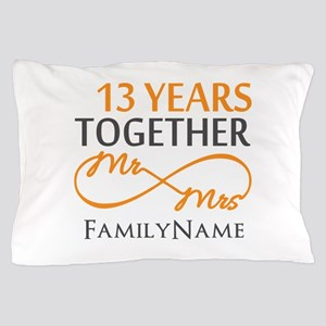 13th anniversary wedding Pillow Case