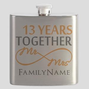13th anniversary wedding Flask