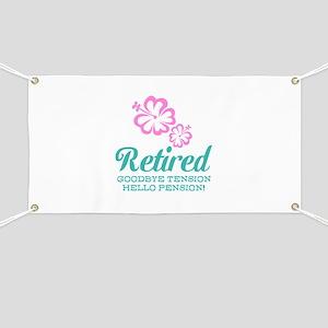 Funny retirement Banner