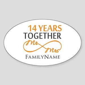 14th anniversary Sticker (Oval)