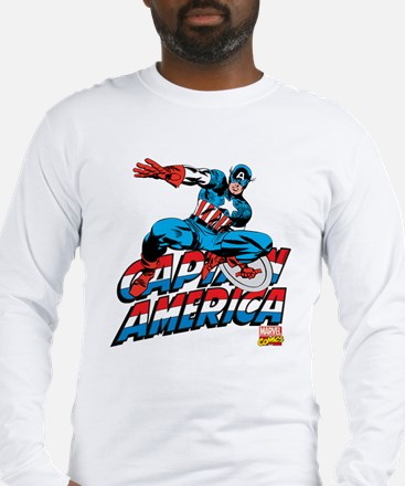 Captain America Logo Long Sleeve T-Shirt