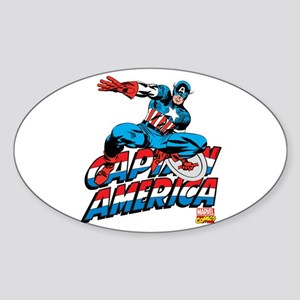 Captain America Logo Sticker (Oval)