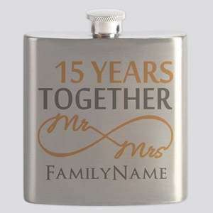15th anniversary Flask