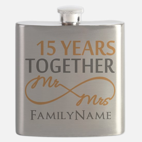 15th anniversary Flask