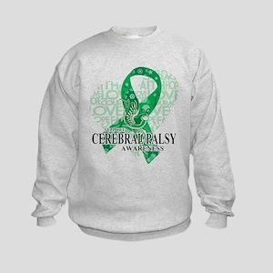 Cerebral Palsy Hope Love Bird Kids Sweatshirt