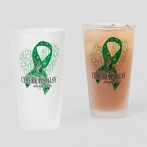 Cerebral Palsy Hope Love Bird Drinking Glass