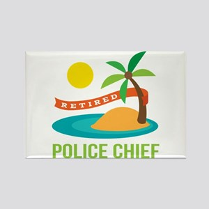 Retired Police chief Rectangle Magnet