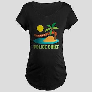 Retired Police chief Maternity Dark T-Shirt
