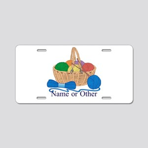 Personalized Knitting Aluminum License Plate