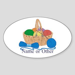 Personalized Knitting Sticker