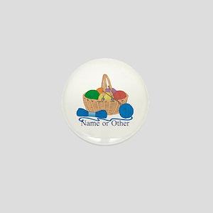 Personalized Knitting Mini Button