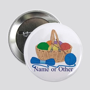 """Personalized Knitting 2.25"""" Button"""