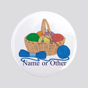 "Personalized Knitting 3.5"" Button"