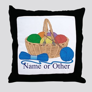 Personalized Knitting Throw Pillow